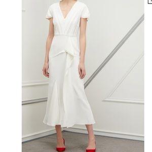 NWT White Roland Mouret Bates Dress - size 10 US
